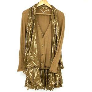 Knitted & Knotted Boho Flowy Draped Shawl Cardigan